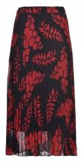 Studio Clothing - Vacker plisse kjol med röda blommor