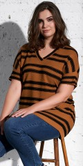 Adia Fashion - Striped knit tunica