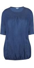 Zhenzi - Thot blau Wash Denim Kleid