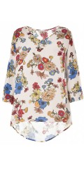 Studio Clothing - Flowery blouse in crepe viskose
