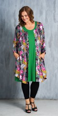 Gozzip - Blomstrad tunika/kimono