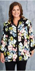 Gozzip - Blomstret skjortebluse