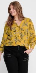 ONLY Carmakoma - Gul skjorta med blommor