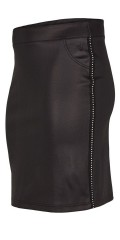 Adia Fashion - Raw skirt with rivets