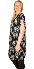 Adia Fashion - Dress with palm print