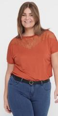 ONLY Carmakoma - Carlinn mesh mix t-shirt