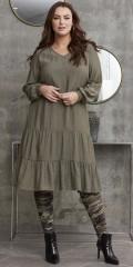 Zhenzi - Adetta ruffle kjole i lin look
