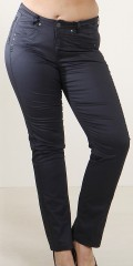 Save 460 kr. on coated (mody) pants with 4 pockets and stretch, length from crotch 80 and 86 cm. with adjustable rubber band in the waist from size 46 and up