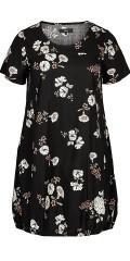 Zizzi - Bomulds kjole med blomster print