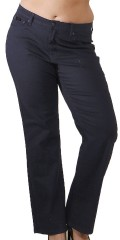 Super fit denim stretch jeans, straith legs, med ekstra plads