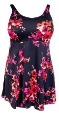 Mirou Swimwear - Badekleid mit rote Blumen