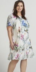 Zizzi - Ruffledress in floral print
