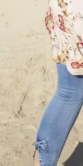 DNY - Novi jeans med rosett