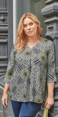 CISO - Blouse with nice retro pattern