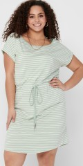 ONLY Carmakoma - Carapril kne dress stripe noos