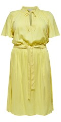 ONLY Carmakoma - Yellow dress with tie string