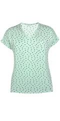 Zhenzi - T-shirt i 100% bomull med hjärtan