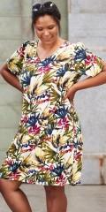 Adia Fashion - Blomstret kjole