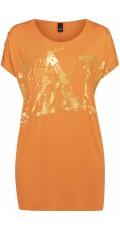 "Adia Fashion - Oversize tunika med ""guld"" tryck"