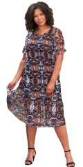 Adia Fashion - Dress in graphic print