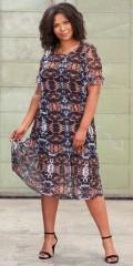 Adia Fashion - Kleid in Grafik Druck