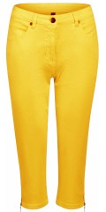 Choise - Yellow stump pants with zipper