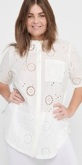 ONLY Carmakoma - Embroidery anglaise shirt