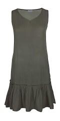 Zhenzi - Ghit crepe kjole med flæse