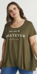 Zizzi - T-shirt med statement