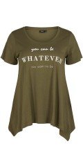 Zizzi - T-Shirt mit statement