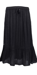 Cassiopeia - Eine skirt, Rock in Crepe Viskose