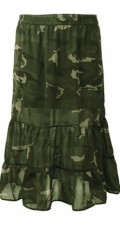Cassiopeia - Laya skirt, ruffle skirt in camouflage