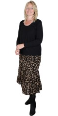 Cassiopeia - Laya skirt, ruffle skirt in animal print