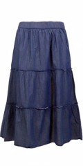 Cassiopeia - Tilly skirt, Denim Rock