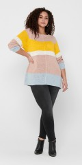 ONLY Carmakoma - Knit pullover in blok colours