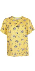 Cassiopeia - Nikita shirt, yellow flowery top