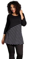 Studio Clothing - Tunika med diagonal striper