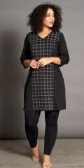 Studio Clothing - Klassisk kjole med rute