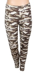 Zhenzi - Lys lang camouflage leggings