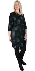 Studio Clothing - Smart printed dress with imitated leather
