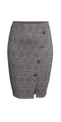 CISO - Chequered skirt with buttons
