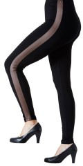 Festival - Leggings med brown/black pu