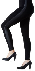 Festival - Leggings med black/black pu
