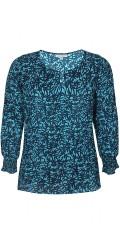 Zhenzi - Iras blus i tryckta lämnar