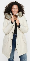 ONLY Carmakoma - Irena parka coat with fake fur