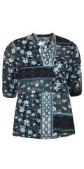 Zhenzi - Tryckta blus