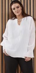 Zhenzi - Elga bluse med smock effekt