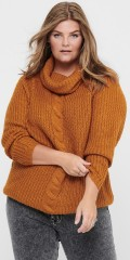 ONLY Carmakoma - Lania roll neck pullover knit