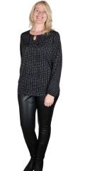 Cassiopeia - Gritt blouse med grafisk trykk