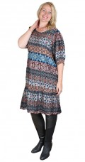 Cassiopeia - Mika super flott viskose dress 1 i patchwork look